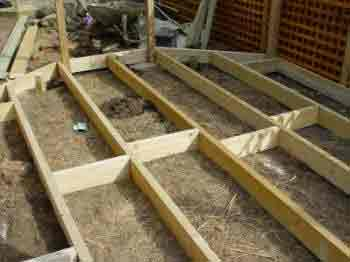 How To Build A Decking Frame Decking Joist Sub Deck Base